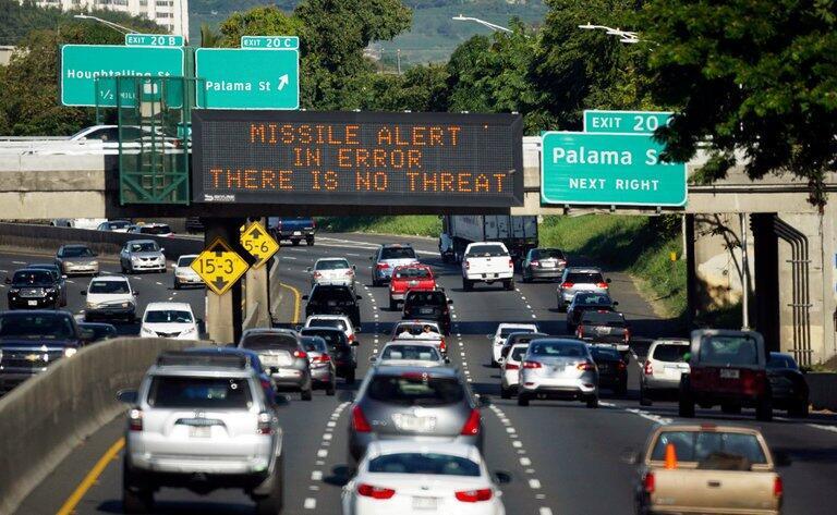 """为何按发送夏威夷警报""""按钮""""?工作人员"""