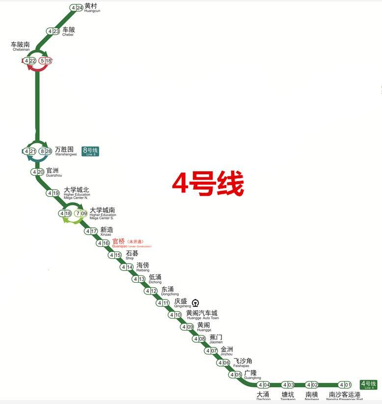 全新广州地铁线路图来了 4条新线月底通车,去北站千万别在北站下车图片