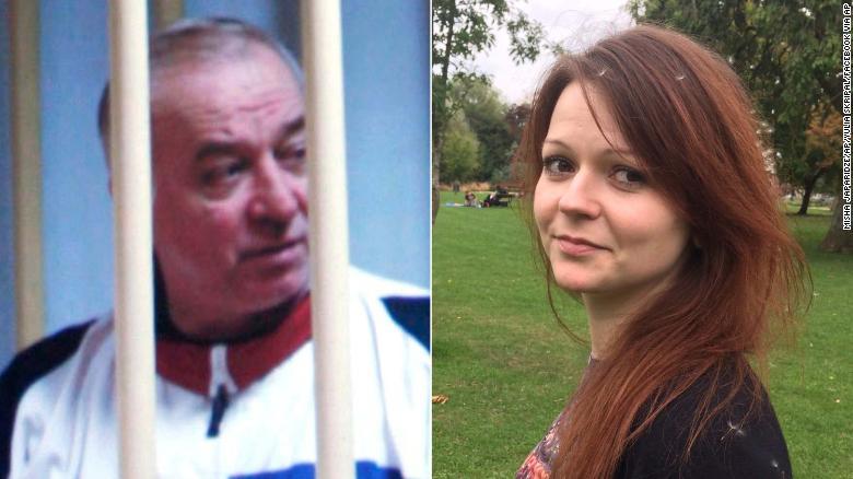 俄裔前双面间谍斯克里帕尔和女儿尤利娅