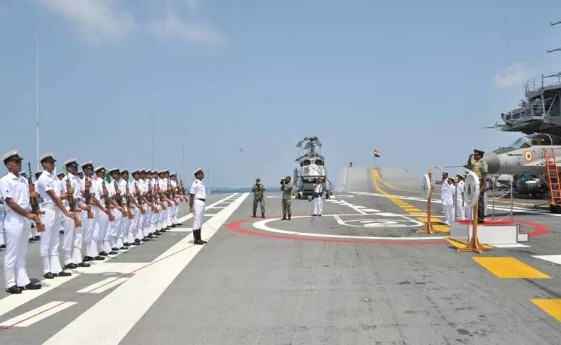 ▲资料图片:印度海军访问马尔代夫。(印度海军官网)