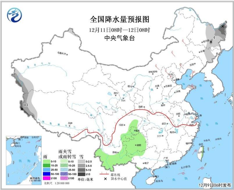 新一股冷空气将影响北方地区 黑龙江有小到中雪