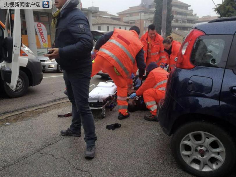 意大利马切拉塔市多处发生枪击 4人受伤