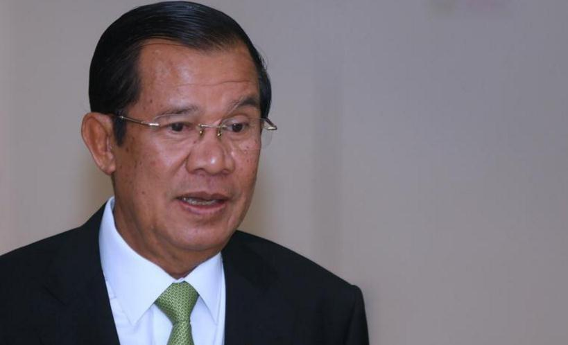 柬埔寨首相洪森当众发出
