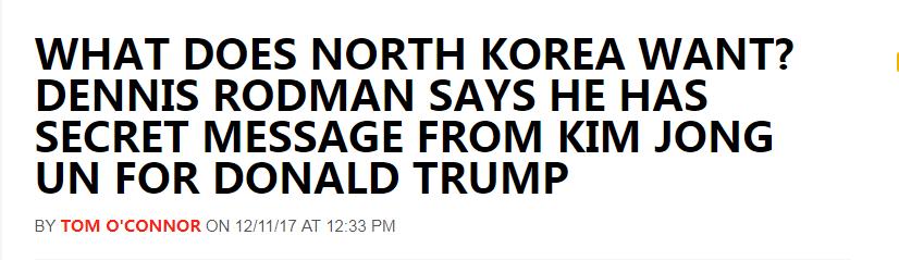 关注 | 这个美国人说,他有金正恩给特朗普的秘密口信——