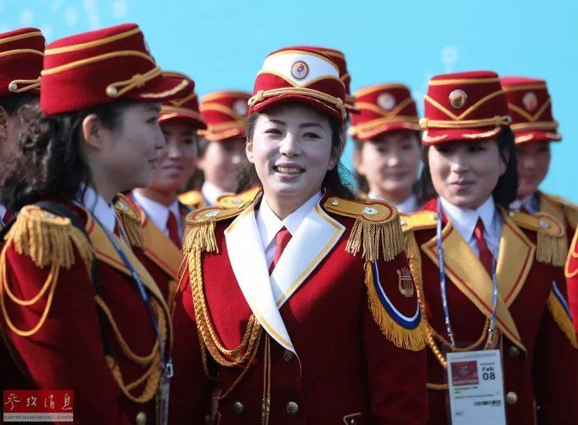▲朝鲜啦啦队成员