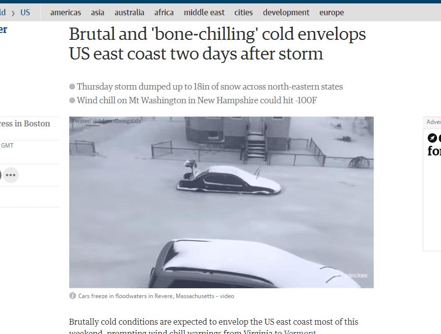 风暴后两天美国人难熬彻骨寒流 多地陷入