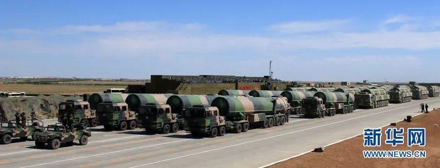 ▲资料图片:2017年7月30日,庆祝建军90周年阅兵中的核导弹方队。