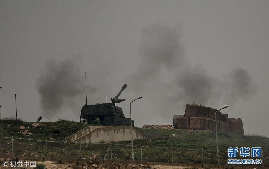 """土耳其""""橄榄枝""""军事行动持续 坦克部队在边境集结"""