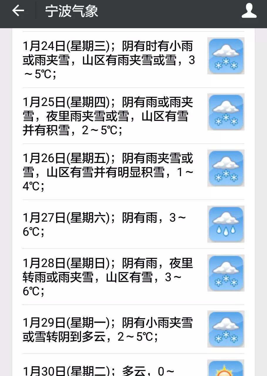 明天宁波真的要下雪了!未来一周都是这样的天气你敢这么穿裤子吗?有人因此冻尿血