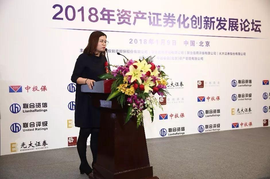中国投融资担保股份有限公司高级副总裁董钰作主旨发言