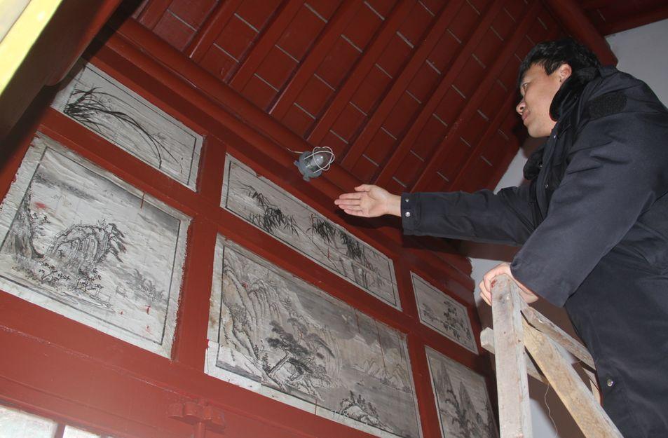 石岛天后宫又现7组古建筑彩画!