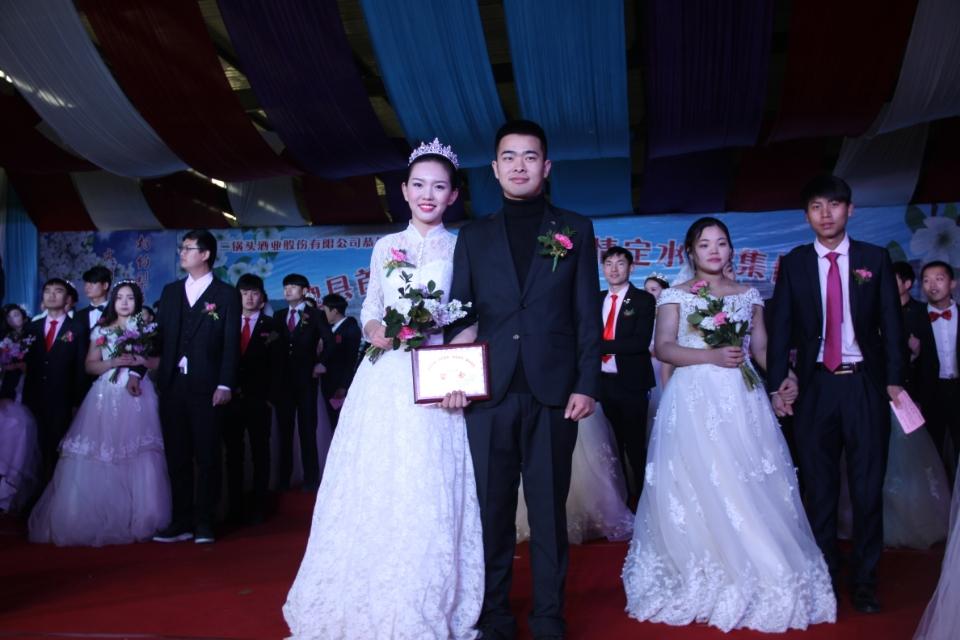 """向结婚彩礼说""""拜拜""""――河北魏县216对新人集体婚礼引领新风尚"""