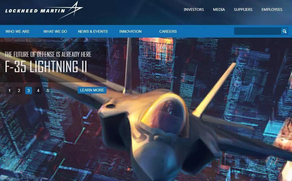 ▲洛克希德-马丁公司是美国一家航空航天制造厂商,图为该公司官网。