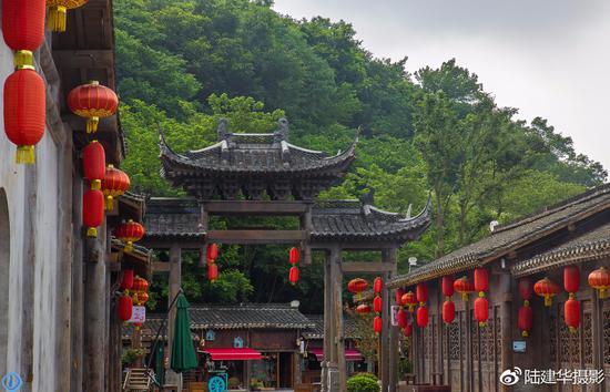 千华古村,一座仿古又不失传统的古村