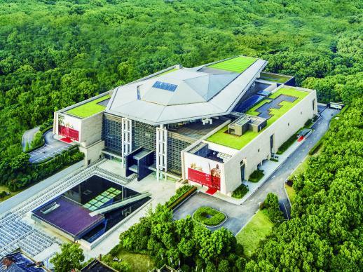 7月10日,绿树环绕的湖南省博物馆。通讯员 摄