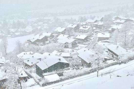 奥地利基茨比厄尔,滑雪小镇里的冬天