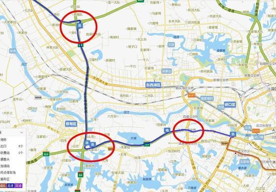出武汉的几个路口不要错了。