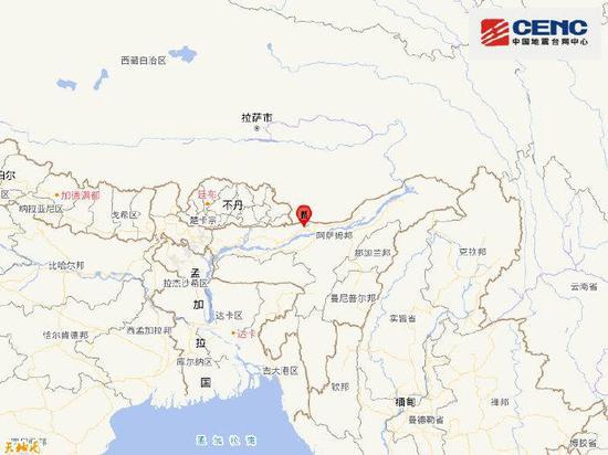 印度发生6.2级地震 震源深度10千米