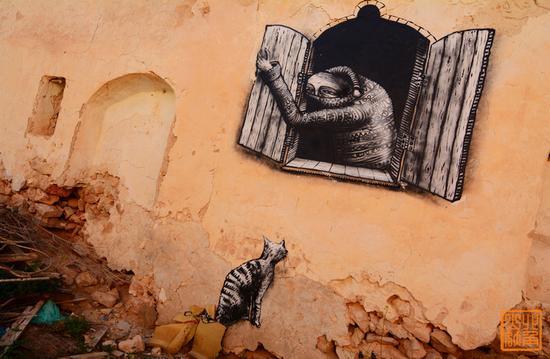 杰尔巴岛:梦幻北非涂鸦...