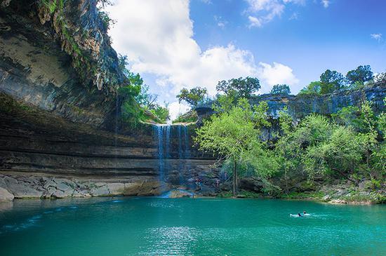 美国德州·世界上最美丽的天然泳池