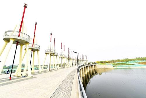 城市副中心再添一处开放式水景公园