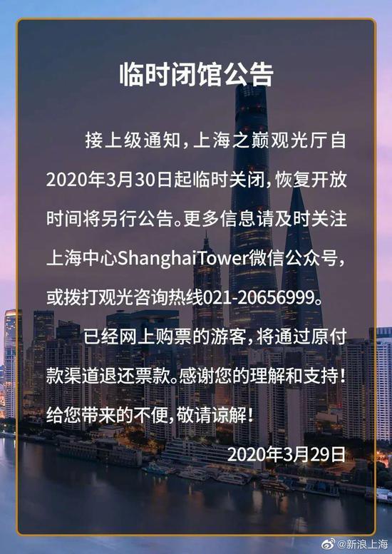 上海多家景区开业后再次宣布闭园