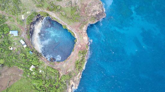 航拍巴厘岛新晋网红景点,美到难以置信