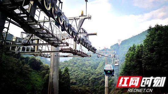 莽山景区新建成的索道。宜章县委宣传部供图。