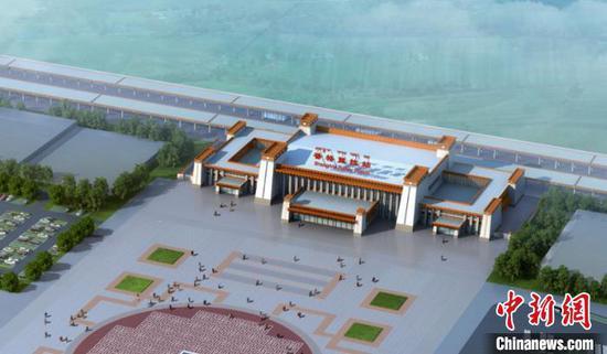 云南丽香铁路香格里拉站主体结构封顶