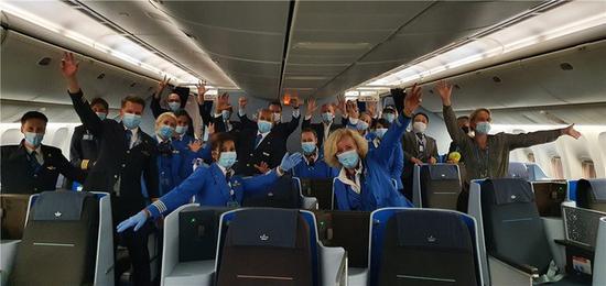 <b>荷兰皇家航空首个客运航班今晨从北京首都机场顺利起飞</b>