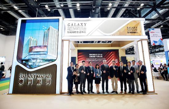 银河国际会议中心于2019IBTM China现场的剪彩仪式