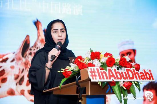 阿布扎比文化与旅游部,旅游及市场推广部高级推广经理萨拉女士