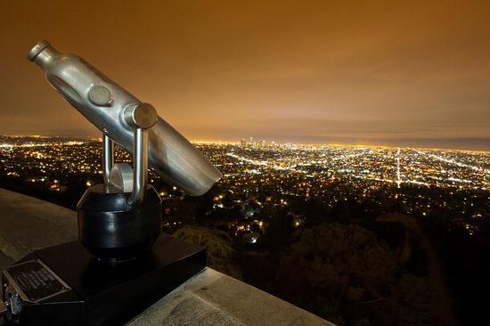 格里菲斯天文台的夜景
