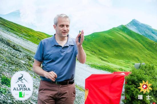 瑞士国家旅游局亚太区主任包西蒙先生发言
