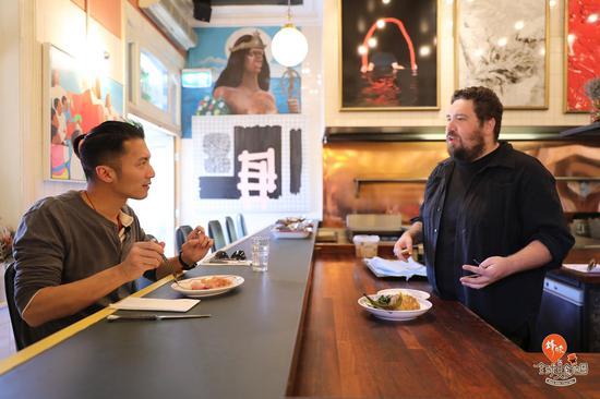谢霆锋在澳大利亚阿德莱德Africola餐厅——来源《锋味全球美食地图》