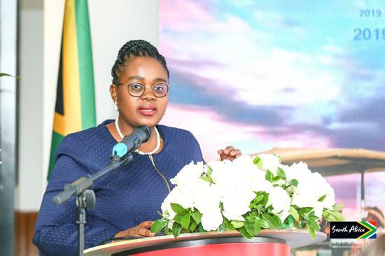 南非旅游部部长马莫罗科·库巴伊-恩古巴内Mmamoloko Kubayi-Ngubane女士致辞