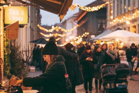 哈佳老城圣诞集市。Photo: Ingeborg Lindseth