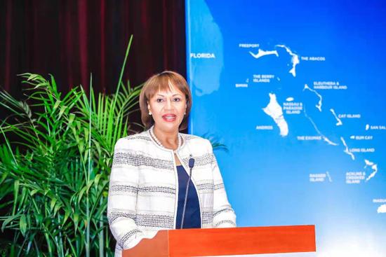 巴哈马旅游与航空部总干事乔伊·吉布里女士(Joy Jibrilu)
