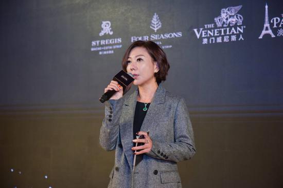 图片说明:金沙中国有限公司市场发展部行政副总裁兼首席客户总裁林锦玲女士致辞