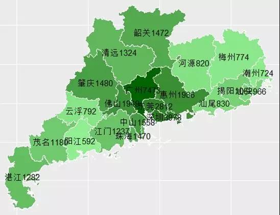 图1.1&nbsp; 2018年上半年各市乡村旅游接待人数(单位<strong>:</strong>万人次)