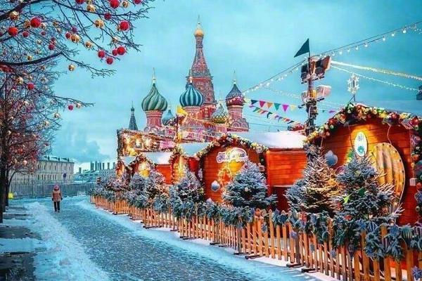 雪中的莫斯科红场
