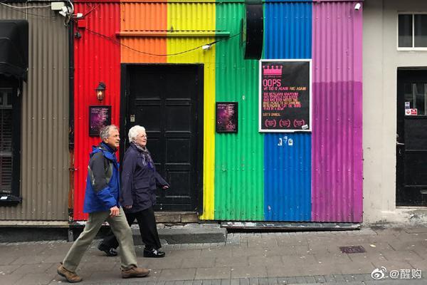 冰岛的彩虹街道