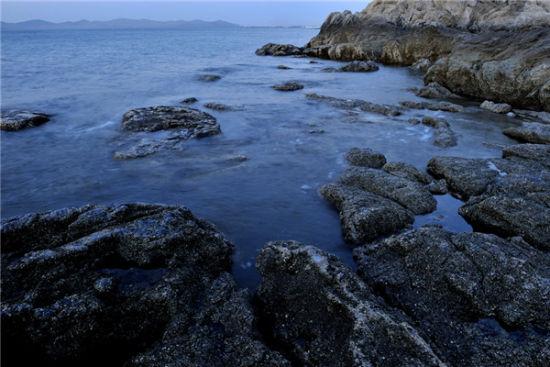 漫步在大连的海边消消夏