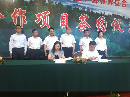 省市领导参加签约仪式
