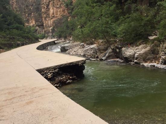 7.19洪灾给仙台山景区设施造成损害