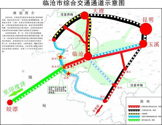 临沧市综合交通通道示意图