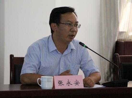 临沧边合区管委会副主任张永安介绍相关情况