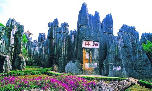 石林风景区-石林县到大理推介休闲旅游产品高清图片