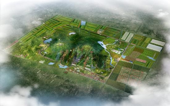 明村特色小镇概念性规划效果图