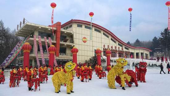 中国·伊春 第六届森林冰雪欢乐季开幕仪式,举办地——日月峡滑雪场